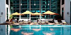 An intimate pool deck is complimented by the Rik Rak Spa and a state-of-the-art fitness center.