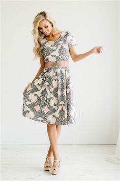 Gray Pink Modest Dress by Mikarose, Vintage Dress, Church Dresses, dresses for church, modest bridesmaids dresses, trendy modest, modest skirt, modest shirts, cute modest dresses, modest church dresses, mikarose, trendy boutique