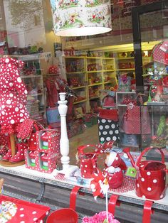 Cute Red Store Front