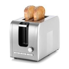 2-Slice Stainless Steel Toaster - Silver