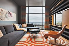 A bold orange hue, of the pumpkin, burnt or citrus variety, is a bright and warm compliment in any room.