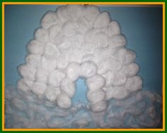 Winter Crafts for Kids - Like Our Cotton Ball Igloo... or some Penguins, Polar Bears, Snow & so much more!