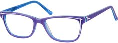Purple Acetate Full-rim Frame With Spring Hinges 106617