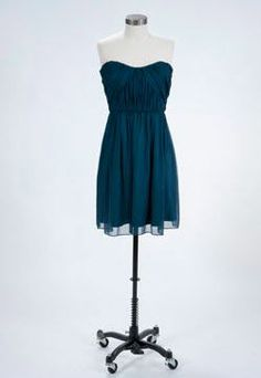 Peacock bridesmaid dress from 57Grand via REVEL....put straps on it?