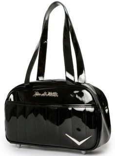 """$72.00-$75.00 Handbags  Lux De Ville """"Cruiser"""" Tote (Shiny Black) - New Cruiser Totes are the perfect companion for our glamour girl on the go. Lux De Ville - HANDBAGS WITH ATTITUDE AND STYLE - Made with 100% Vegan Vinyl http://www.amazon.com/dp/B006CCUP6O/?tag=pin0ce-20"""