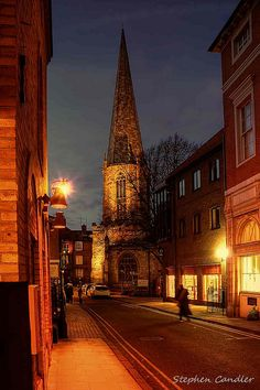 Evening On Castlegate in York, North Yorkshire, England