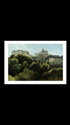 Jean-Baptiste Camille Corot - Ariccia, Palais Chigi, c. 1826-1827 - Huile sur papier sur bois - 23,5 x 35,5 cm - Baden, Museum Langmatt