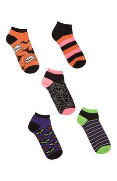 Pack de 5 pares de calcetines tobilleros