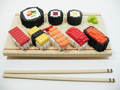 Lego sushi!! No idea who did this, but it is AWESOME!!
