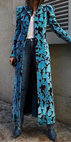 Fashion Coats - Casual printed long sleeve single breasted overcoat, fashion casual style and comfortable material you will love it, tops, jumpsuits and dresses you can options. Source by bettinahassing - Look Fashion, Winter Fashion, Womens Fashion, Fashion Design, Fashion Trends, Fashion Coat, Fashion Check, Floral Fashion, Classy Fashion