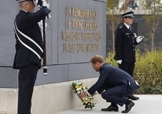 Prince Harry laid a wreath at a memorial at Metropolitan Police Training College to commemorate those who have lost their lives in the line of duty