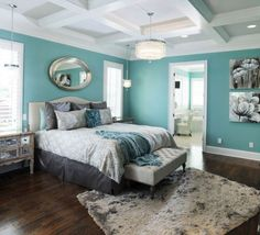 Ideas Bedroom Designs with Furniture Projects a Light and Classic : Lovely Combination Of Toned Blue And Gray