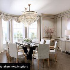 An amazing opulent dining room in Surrey. One of the many gorgeous projects @laurahammett.interiors has worked on. Repost from @laurahammett.interiors using @RepostRegramApp - Another visual from our Surrey project - the formal dining room #interiordesign #interiorarchitecture #interiorstyling #luxuryinteriors #homedecor #interiordesigner #construction #design #dining #picoftheday #diningroom #laurahammett