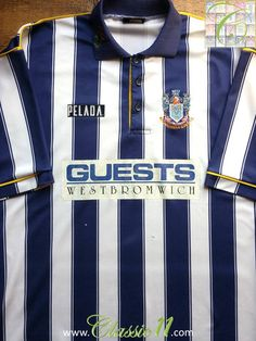 8f3466b2ba1 Relive West Bromwich Albion s 1994 1995 season with this vintage Pelada  home football shirt.