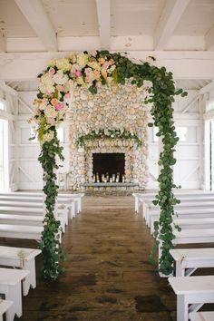 romantic seaside wedding ceremony - photo by Michelle Gardella Photography http://ruffledblog.com/best-of-2015-wedding-ceremonies