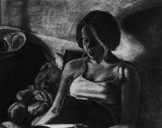 Jenny, 2004 charcoal on newsprint (Christen Collier Humphries)