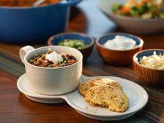 Get Three Bean Turkey Chili Recipe from Food Network