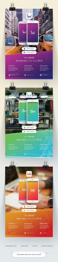 Mobile App Flyer Template PSD