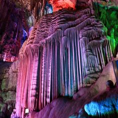 Beautiful stalactites, silver cave is a typical karst in #Guilin, China