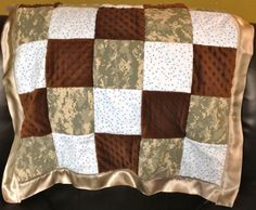 John's Army quilt that I made :D