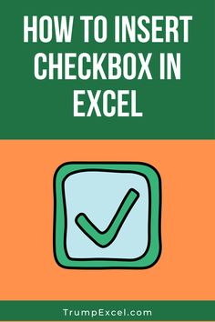 In this tutorial, you'll learn how to insert a checkbox in Excel. It can be used to make interactive workbooks, dashboards, and forms Computer Basics, Computer Help, Computer Programming, Microsoft Applications, Microsoft Excel Formulas, Lean Accounting, Secret Websites, Keyboard Symbols, Excel For Beginners