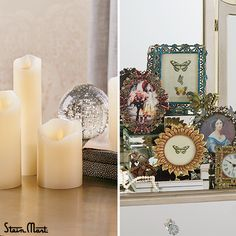 Candles and Frames: Buy for yourself or give to someone special! I love candles and frames to use as decoration. You can't go wrong with these!