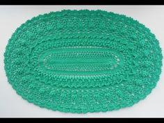 Вязание Овального коврика крючком ДЛЯ НАЧИНАЮЩИХ. 1 и 2 ряд. (CROCHET OVAL RUG. 1-2 Rows) - YouTube