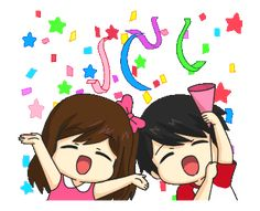 LINE Creators' Stickers - Jun-kun & Jane-chan Animated! Example with GIF Animation Cartoon Gifs, Cute Cartoon Wallpapers, Animated Cartoons, Animated Gif, Happy Birthday Gif Images, Happy Birthday Wishes Cake, Love Cartoon Couple, Cute Love Cartoons, Emoji Happy Face