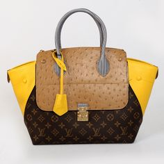 I'm in love with this LV Bag. #Ostrich Leather#