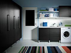 Kaisla - musta. Decor, Ironing Center, Furniture, Home, Storage, Cabinet, Home Appliances, Home Decor, Washing Machine
