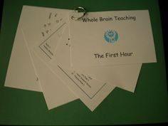 Whole Brain Teaching - First Hour Cue Cards by Whole Brain Teacher and Momma Teaching Techniques, Teaching Methods, Teaching Resources, Teaching Ideas, Teaching Materials, Beginning Of The School Year, First Day Of School, Classroom Organization, Classroom Management
