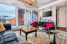7 Toronto Churches Converted Into Beautiful Condo Lofts You Can Actually Live In Lofts For Rent, Gas Bbq, West Village, Brick Wall, Toronto, Condo, Victoria, Flooring, The Originals