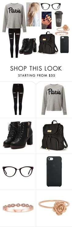 """winter school day"" by sarahype on Polyvore featuring River Island, Samsøe & Samsøe, Victoria's Secret, GlassesUSA and The Created Co."