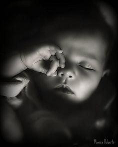 sweet slumber - indeed! Now THIS is a sweet photo of sleeping baby. There's no crazy costume or props. I love it.