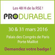 G2 sera présent au salon #PRODURABLE le 30 & 31/03 ! http://www.produrable.com/inscriptions