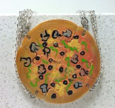 Friendship Necklaces Veggie Pizza Set of 4 by GirlwithaFrogTattoo, $60.00