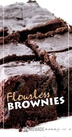 Flourless Brownies made with maple syrup-maybe try with agave?