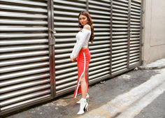 Nadine style for Its Showtime (ctto) Nadine Lustre Ootd, Nadine Lustre Fashion, Nadine Lustre Outfits, Nadz Lustre, Filipina Actress, Flattering Outfits, Jadine, Winter Fashion Outfits, Fashion Dresses