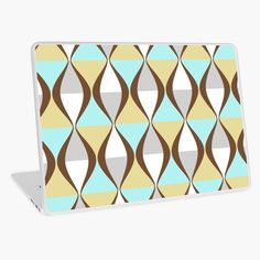 """""""Retro style geometric lines, curves pattern"""" Laptop Skin by cool-shirts Framed Prints, Canvas Prints, Art Prints, Samsung Galaxy Cases, Iphone Cases, Rick And Morty Season, Geometric Lines, Laptop Skin, Sell Your Art"""