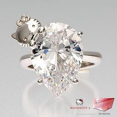 hello kitty diamond engagement ring