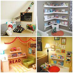 rincones de lectura para niños estanterias