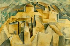 Pablo Picasso Houses on the Hill Horta de Ebro oil painting for sale; Select your favorite Pablo Picasso Houses on the Hill Horta de Ebro painting on canvas or frame at discount price. Georges Braque, Kunst Picasso, Picasso Art, Guernica, Picasso And Braque, Cubist Paintings, Cubism Art, Francis Picabia, Most Famous Artists