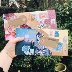Bullet Journal Ideas Pages, Bullet Journal Inspiration, Aesthetic Letters, Mail Art Envelopes, Snail Mail Pen Pals, Blog Art, Pen Pal Letters, Daisy Girl Scouts, Envelope Art