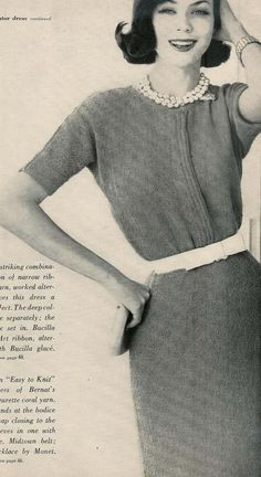 Vogue Knitting 1960 Classic Silhouette
