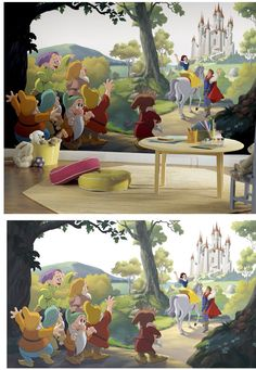 Disney Snow White Happily Ever After XL Wall Mural   Wall Sticker Outlet Part 90