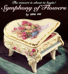 the imperial gardens collection porcelain piano music box jewelry box