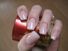 Gel nails on natural tips and pink gel :) - NailsWithLove Blog