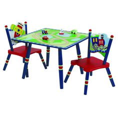 Levels of Discovery Gettin' Around Table & 2 Chair Set - LOD60002