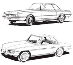 "Paul Bracq - Mercedes-Benz W113 ""Pagoda"" Studies"