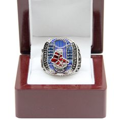 Image result for red sox 2013 world series ring with lighted box